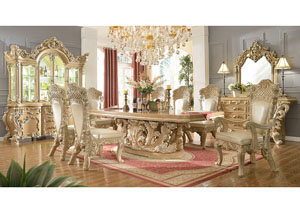 Image for Gold & Cream Dining Table
