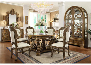 Image for Antique Gold & Brown Dining Table