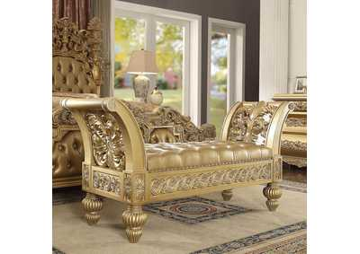Image for Metallic Bright Gold Bench