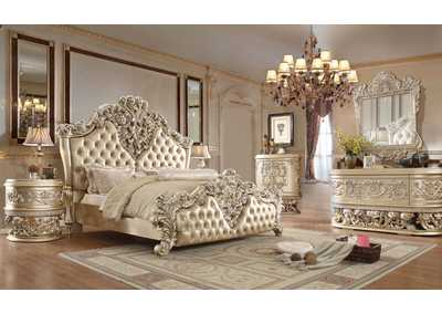 Image for Belle Silver Eastern King Bedroom Set W/ Dresser, Mirror, Nightstand