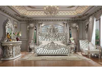 Image for Metallic Silver California King Bed