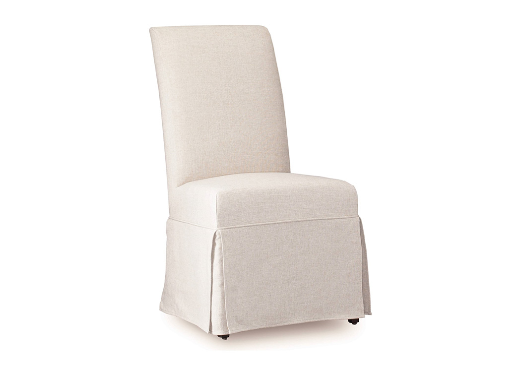 Clarice Jade White Skirted Chair,Hooker Furniture