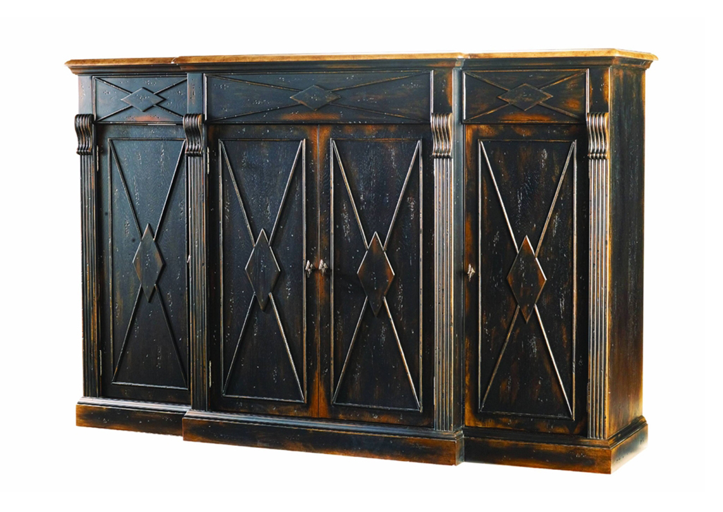 Ivan Smith Sanctuary Ebony 4 Door 3 Drawer Credenza
