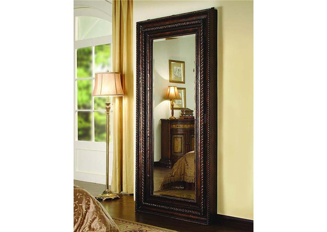 Hooker Floor Mirror w/Hidden Jewelry Storage,Hooker Furniture