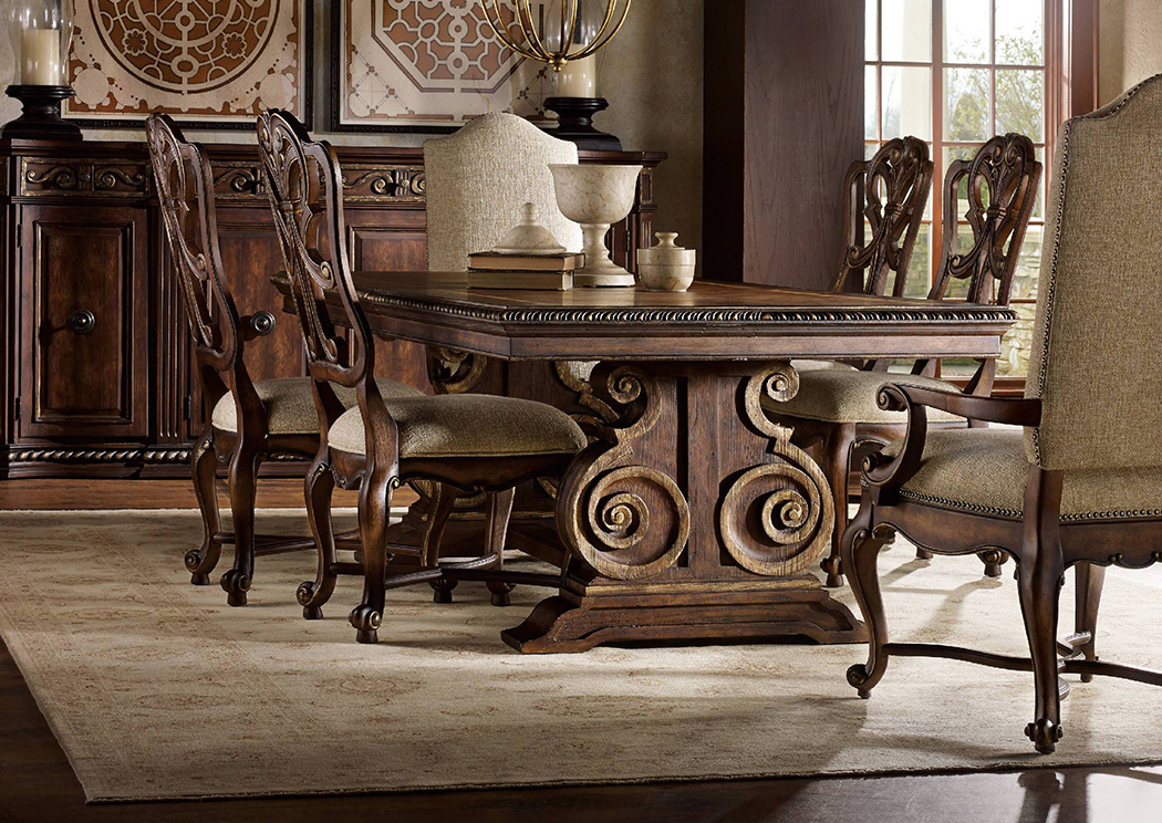 Jesup Furniture Outlet Adagio Rectangle Dining Table W 2 Arm Chairs