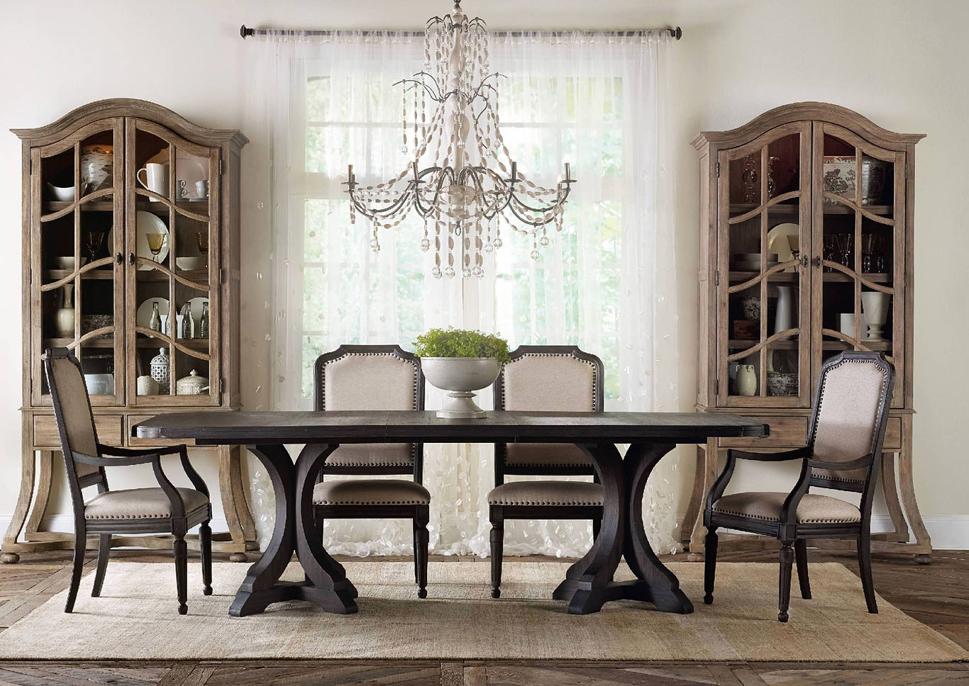 Groovy Ivan Smith Corsica Rectangle Pedestal Dining Table W 2 20 Cjindustries Chair Design For Home Cjindustriesco