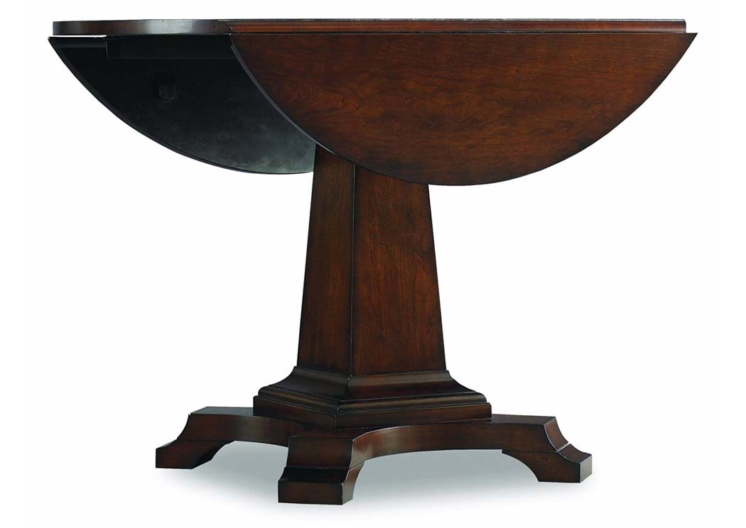Ordinaire Abbott Place Warm Cherry Round Drop Leaf Pedestal Dining Table,Hooker  Furniture