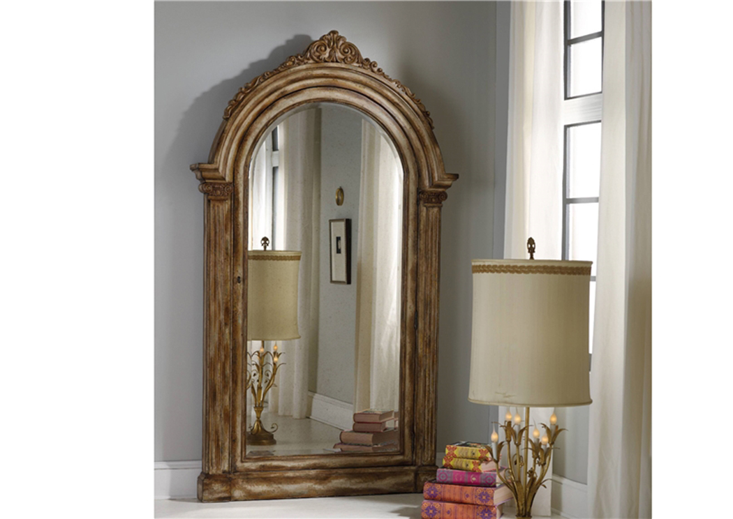 Melange Vera Floor Mirror W/Jewelry Armoire Storage,Hooker Furniture
