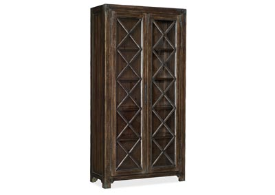 Image for American Life-Roslyn English Walnut Bunching Display Cabinet