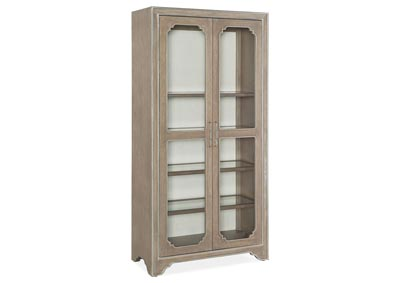 Image for Modern Romance Mist Gray Display Cabinet