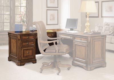 Image for Pearl Bush Brookhaven Left Pedestal Desk