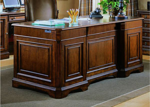 Brookhaven Executive Desk (Leather Top)