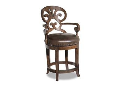 Jameson Cottage Leather Counter Stool