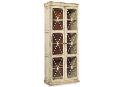 Sanctuary Bone Sanctuary Two-Door Thin Display Cabinet - Dune