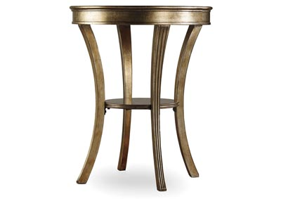 Sanctuary Cultured Pearl Sanctuary Round Mirrored Accent Table - Visage