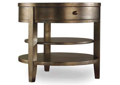 Sanctuary One-Drawer Round Lamp Table