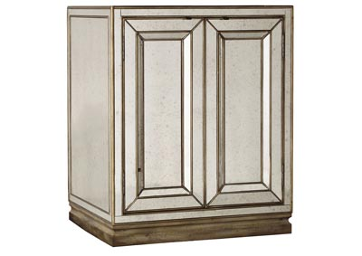 Image for Sanctuary Two-Door Mirrored Nightstand - Visage