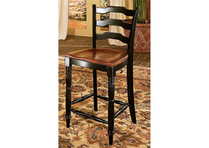 Indigo Creek Black Counter Stool