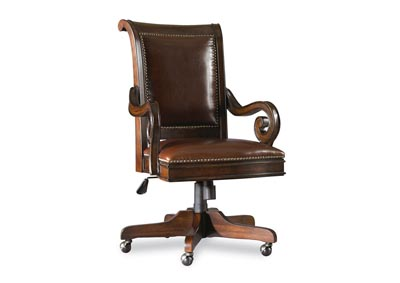 European Renaissance II English Walnut European Renaissance II Tilt Swivel Chair