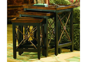 Hooker Nesting Tables w/Medallion Motif