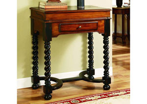 Jacobean Twist Leg Flip-Top Writing Desk