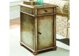 Hooker One Drawer Antique Mirror Chest
