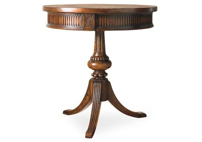 Cultured Pearl Round Pedestal Accent Table