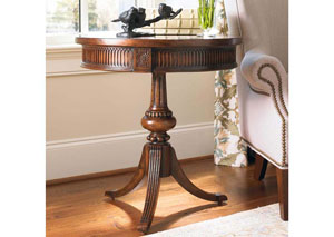 Hooker Round Pedestal Accent Table