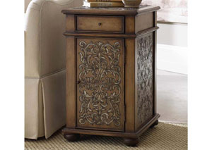 Hooker Embossed Design Chairside Chest