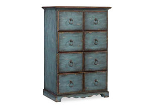 Hooker Blue Tall Drawer Chest