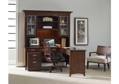 Image for Latitude Dark Walnut Latitude Modular Group Office Wall System