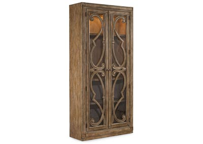 Solana Tobacco Brown Solana Bunching Curio Cabinet