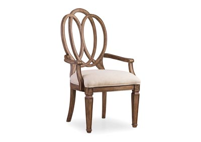 Solana Wood Back Arm Chair (Set of 2)