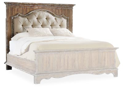 Chatelet Cultured Pearl Chatelet Queen Upholstered Mantle Panel Headboard,Hooker Furniture
