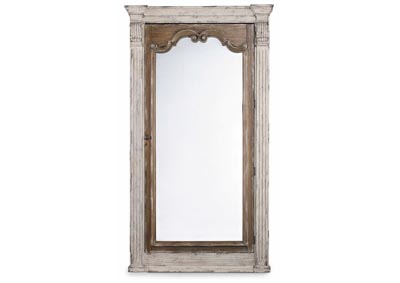 Image for Chatelet Cultured Pearl Floor Mirror w/Jewelry Armoire Storage