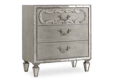 Image for Sanctuary Gray Three Drawer Nightstand