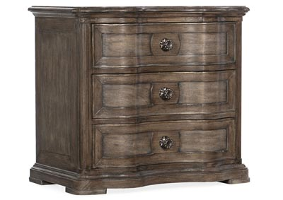 Image for Woodlands Kabul Three-Drawer Nightstand