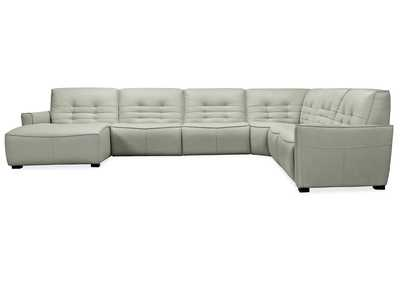 Image for Grey Reaux Grandier 6-Piece LAF Chaise Sectional w/ 2 Recliners