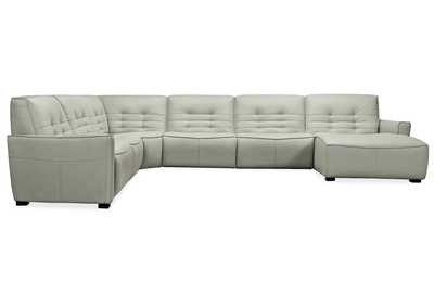 Image for Grey Reaux Grandier 6-Piece RAF Chaise Sectional w/ 2 Recliners