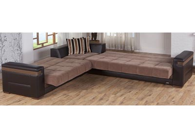 Moon Troya Brown Reversible Sectional