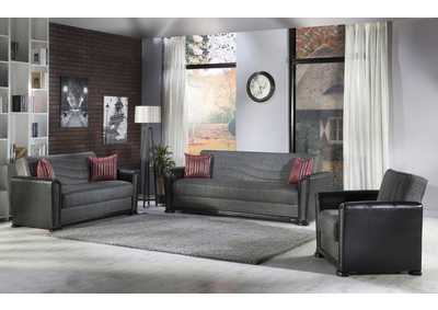 Alfa Redeyef Fume Sofa, Loveseat & Chair