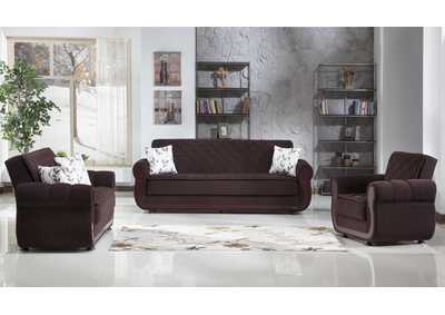 Argos Colins Brown 3 Seat Sleeper & Loveseat