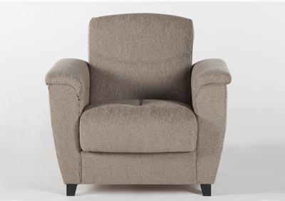 ASPEN ARMCHAIR (ARISTO LIGHT BROWN)