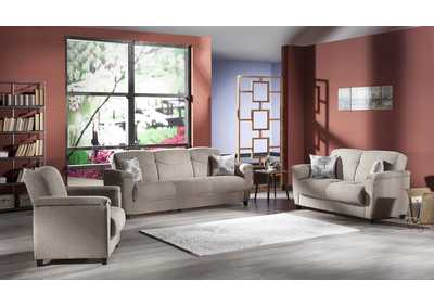 Aspen Forest Brown 3 Seat Sleeper & Loveseat