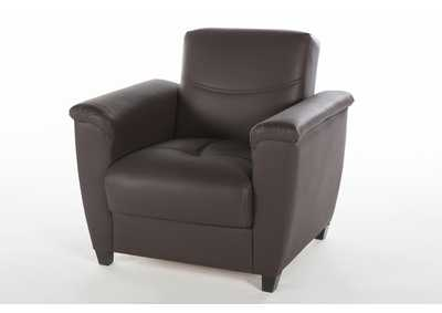 Aspen Santa Glory Dark Brown Armchair