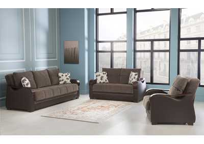 Bennett Armoni Brown 3 Piece Sofa Set