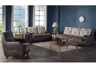 Costa Armoni Brown Sofa, Loveseat & Chair