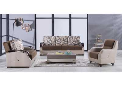 Costa Best Brown 3 Piece Sofa Set