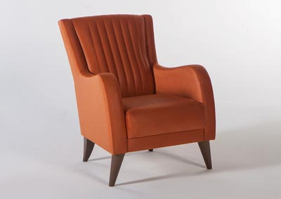 PIERO HANDE ORANGE WING CHAIR