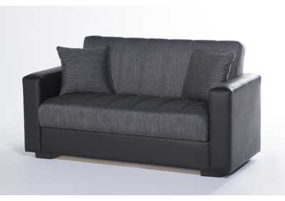 Image for Sidney Bolzoni Gray Love Seat W/ Storage